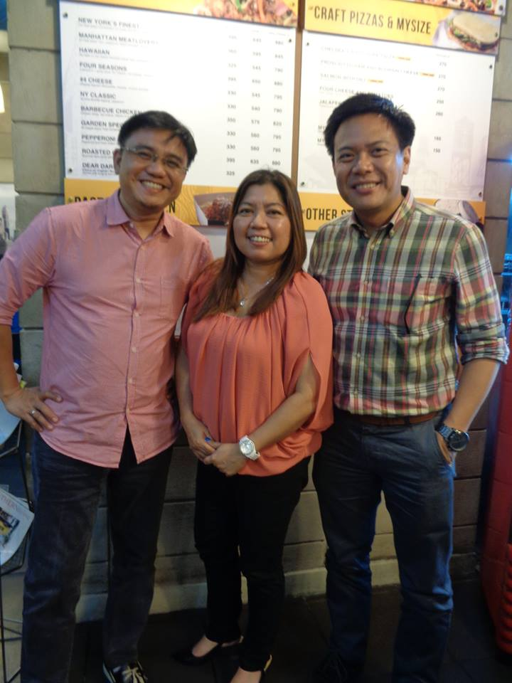 From Left to Right. Homer Nievera, CEO of Heartshaper Asia; Coochie Mamaclay, Marketing Manager of Yellow Cab; and Roy Quejada, COO of Yellow Cab (Photo by Jim Moriones)