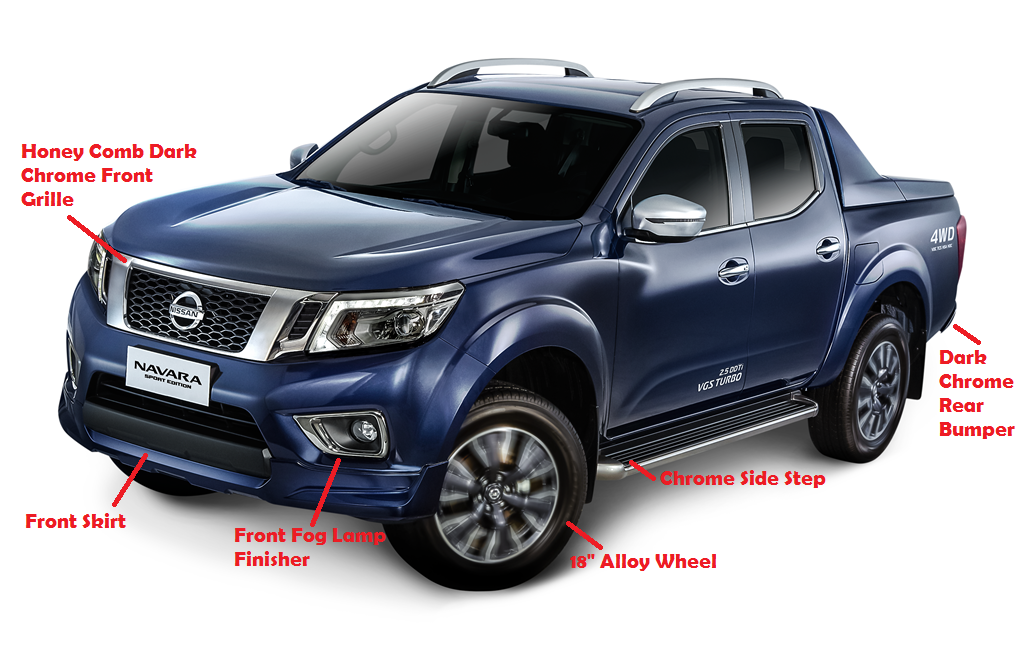 new nissan navara sport edition stylish and sporty executive chronicles. Black Bedroom Furniture Sets. Home Design Ideas