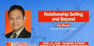 2nd Sales Breakthrough Conference 2020 welcomes Sales Trainer Eric Manalo- Executive Chronicles