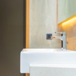 Faucet water and white sink decoration interior