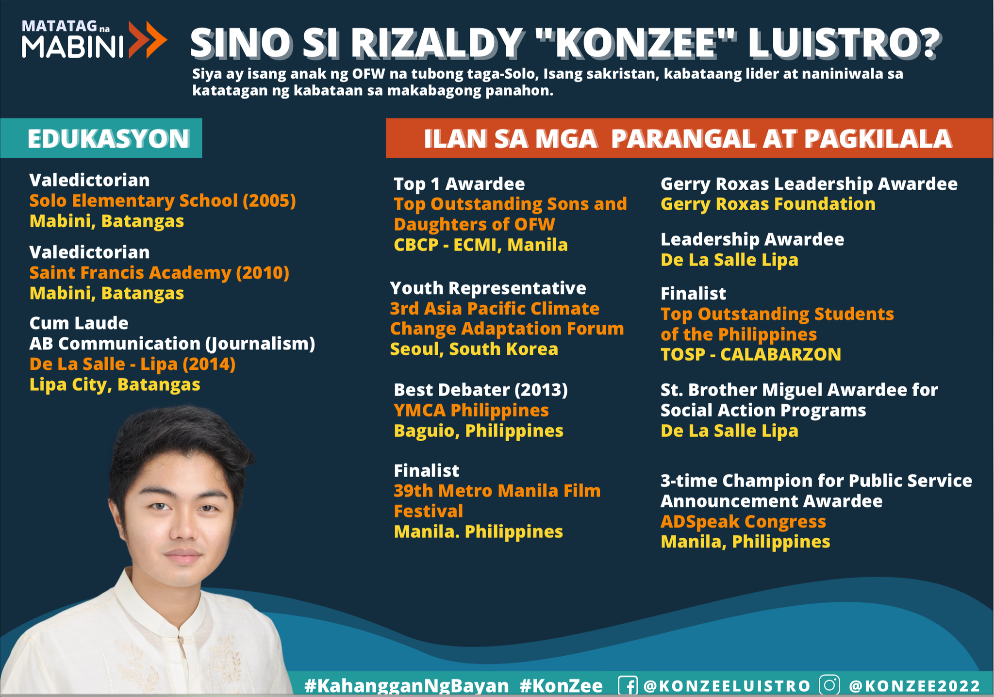 """Resilient Mabini By Rizaldy """"KonZee"""" Luistro"""